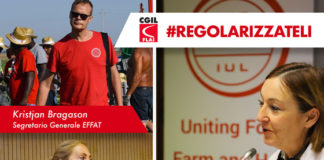 #REGOLARIZZATELI IUF ed EFFAT sostengono la nostra mobilitazione